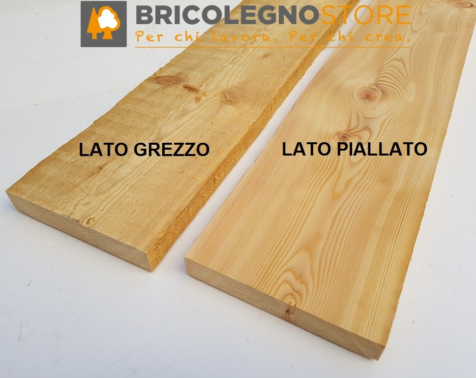 Tavole legno di larice piallate tavola larice cm 2 3 x - Tavole di larice piallate ...