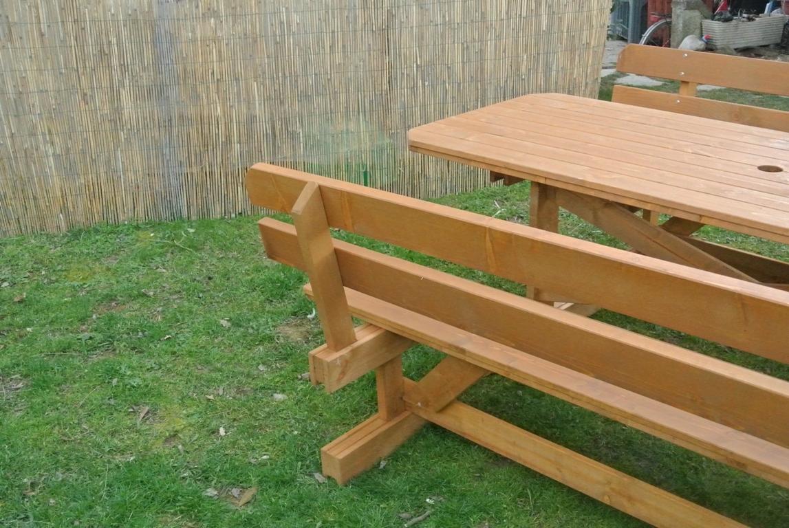 Tavolo da giardino con panche separate e schienale 8 2 posti mod nice - Tavolo e panche da giardino ...