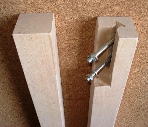 Gambe tavolo in legno e ferro gamba tavolo faggio grezza - Gambe in ferro per tavoli ...