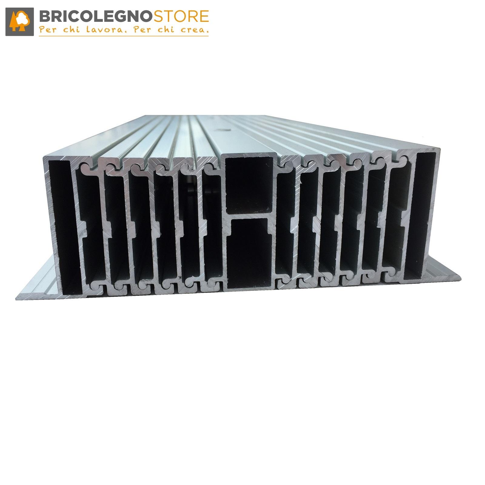 Guide Telescopiche Per Tavoli Allungabili.Guide Allungabili Telescopiche In Alluminio Con Gamba Centrale Per Tavoli Estensibili E Consolle