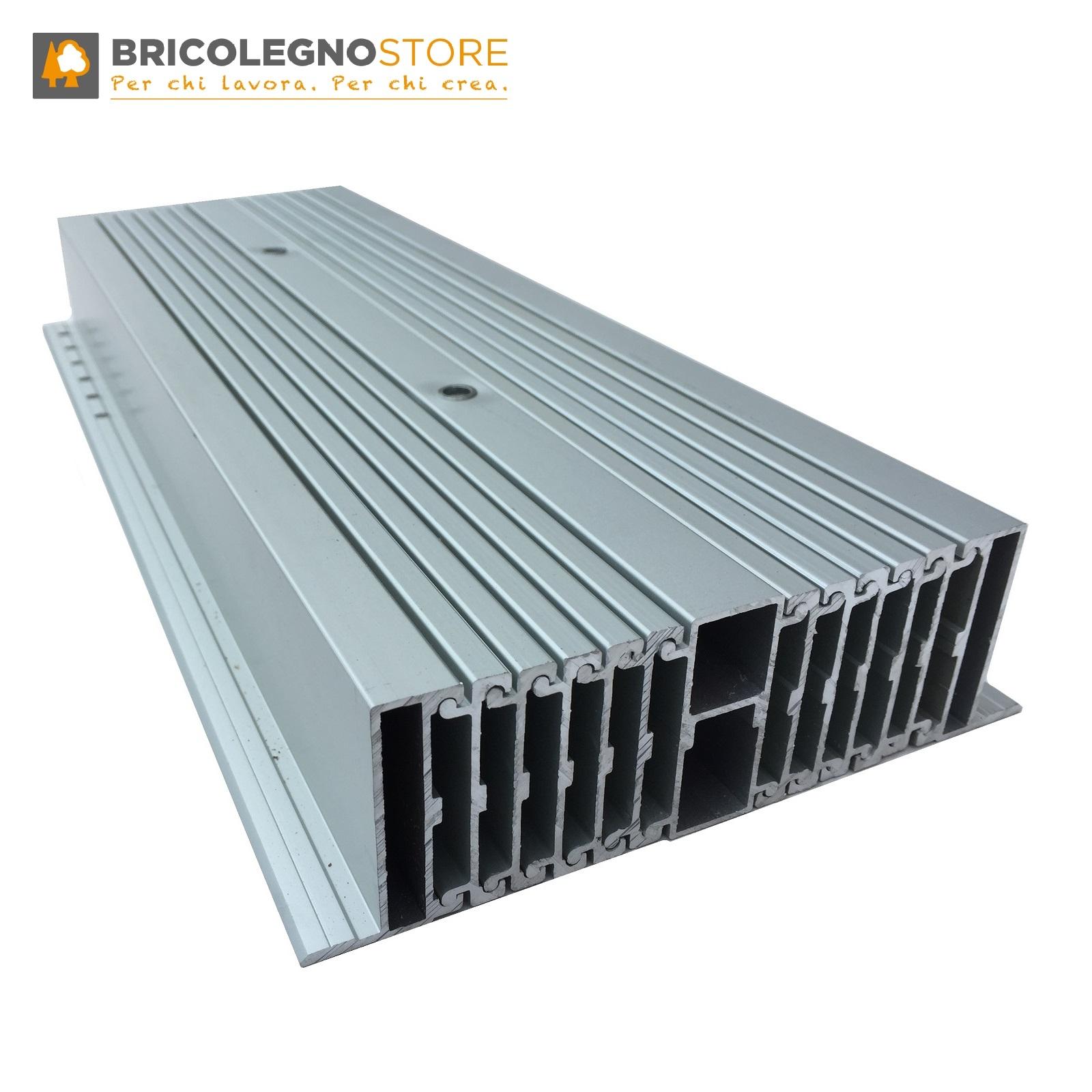 Guide Per Tavolo Allungabile.Guide Allungabili Telescopiche In Alluminio 16 Elementi 290 Cm Per Tavoli Estensibili E Consolle