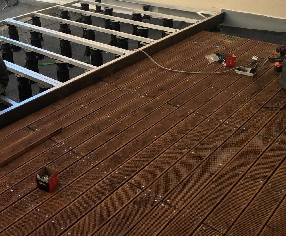 Pavimento A Incastro Per Esterni pavimento in legno per esterno decking in larice siberiano rustik - listone  da 20 x 115 x 2650 mm