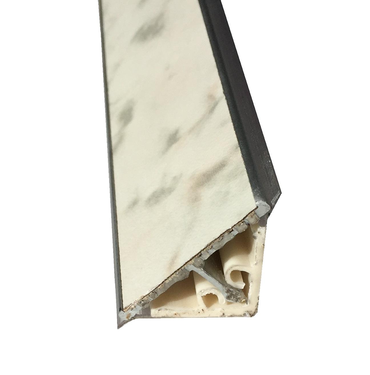 Alzatina Alluminio Per Cucina alzatina per top cucina finitura casablanca