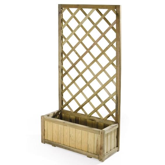 Grigliati in legno pannello grigliato con fioriera in for Divisori giardino ikea