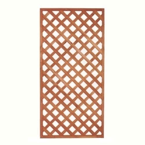 Grigliati in legno pannello grigliato in legno di cedro rettangolare color noce cm 3 5 x 90 x 180 - Grigliati in legno ikea ...