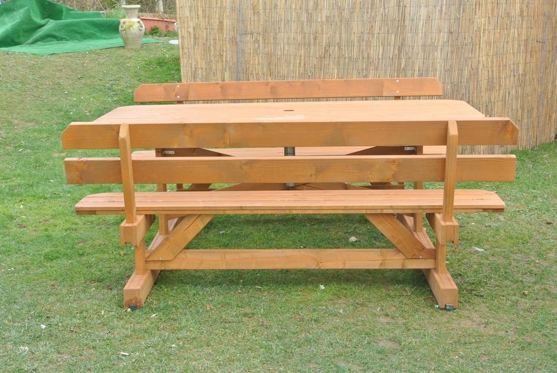 Tavoli in legno per giardino con panche tavolo da giardino in legno con panche e schienale 8 - Panchine da giardino ikea ...