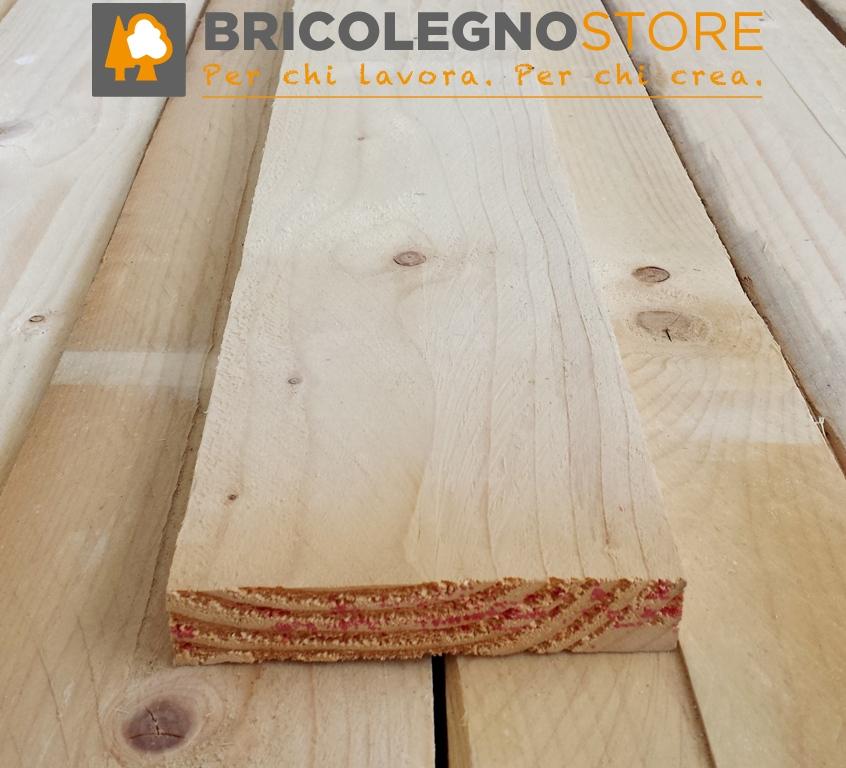 Spessore mm 25 27 28 listello abete grezzo 25 x 50 x 3000 mm - Tavole legno massello grezzo ...