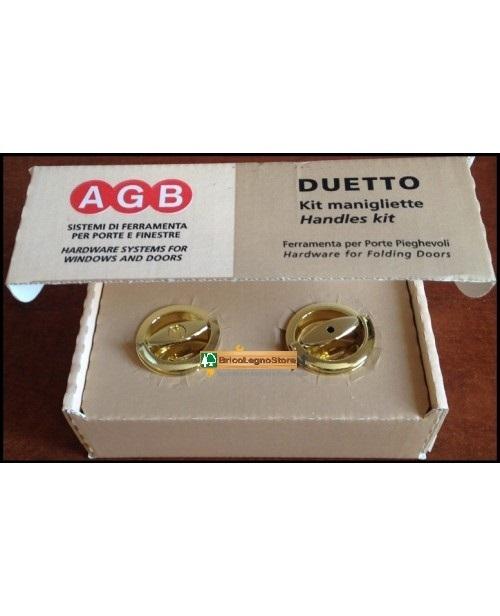 Serrature per porte e serrature per mobili maniglie per porta a libro duetto 34 agb - Kit porta a libro ...