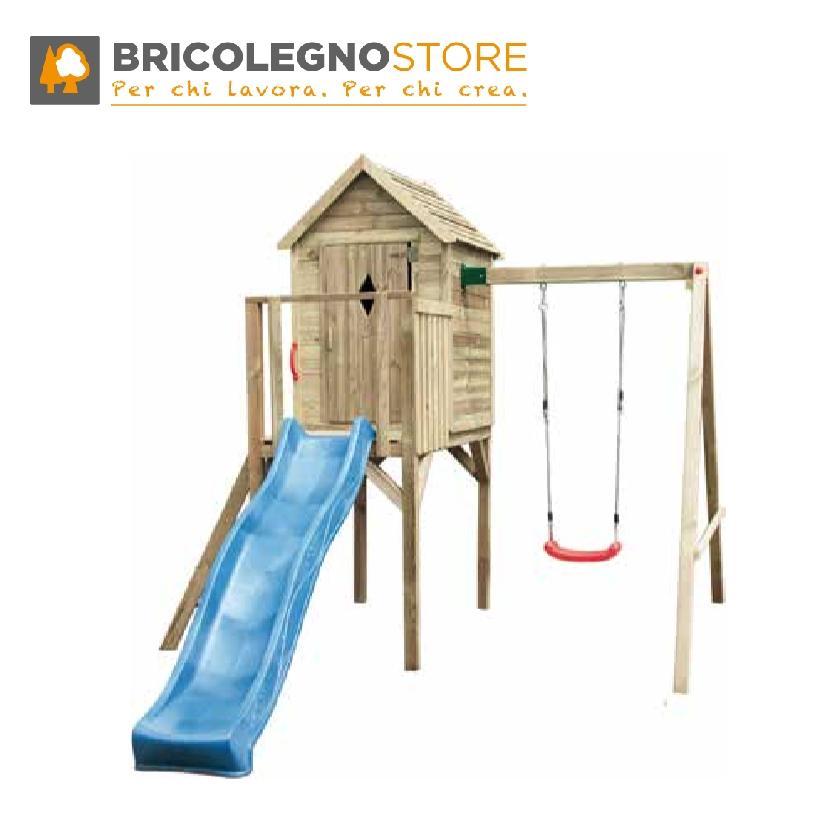 Parco giochi casette gioco da esterno per bambini - Letto con scivolo per bambini ...