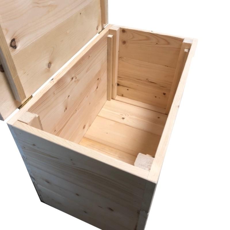 cassapanche in kit cassapanca in abete massello cm 35 x 35 x h 46. Black Bedroom Furniture Sets. Home Design Ideas