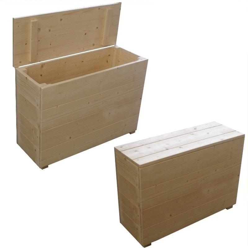 Cassapanche in kit cassapanca in abete massello cm 95 x for Cassapanche piccole legno