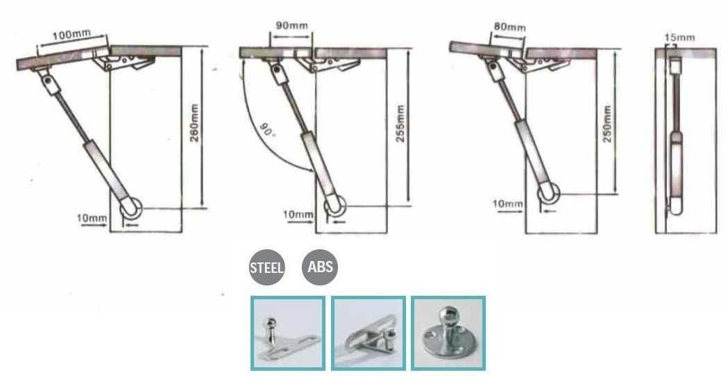 Accessori per mobili e antine pistone braccetto a gas for Mobili cucine a gas