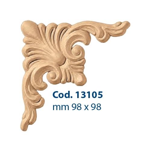 Fregio Mobili Pasta Di Legno Grezzo 55x55H mm Decoro Restauri Decorazione Arte