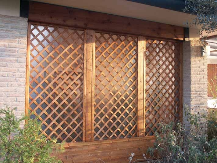 Grigliati in legno cornice terminale per grigliato in for Grigliati con fioriera