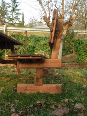 Tavoli in legno per giardino con panche tavolo da giardino in lengo con panche separate e - Tavolo e panche da giardino ...