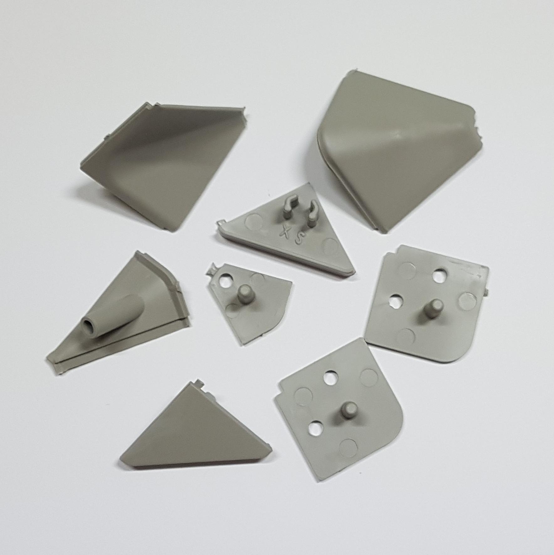 Alzatina Alluminio Per Cucina kit accessori tappi alzatina grigio chiaro per top cucina