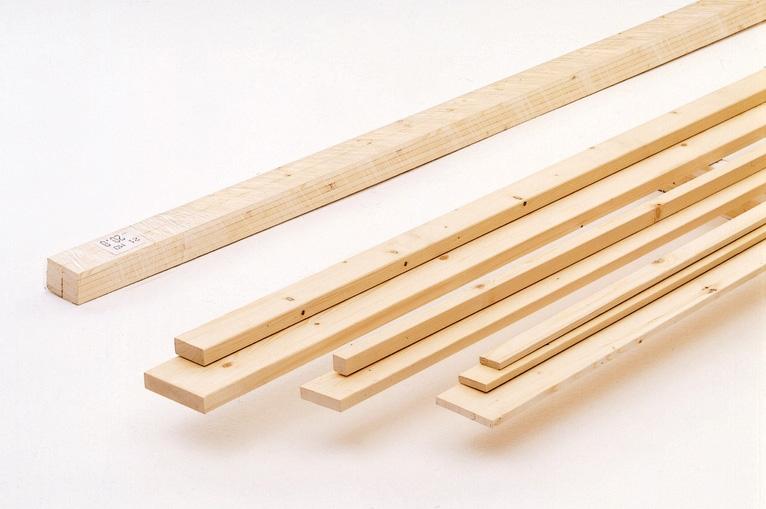 tavole e listelli legno di abete piallato spessore 20 25