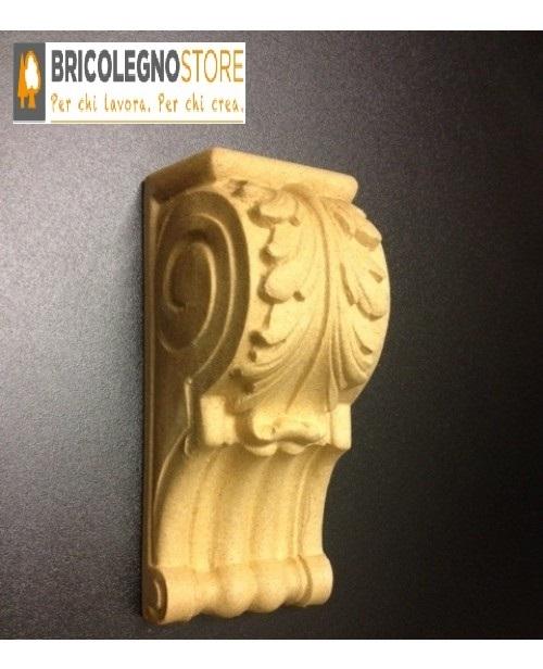 Fregi in legno pressato e fregi in pasta di legno fregio in pasta di legno mm 136 x 60 cod 4123 - Fregi per mobili ...
