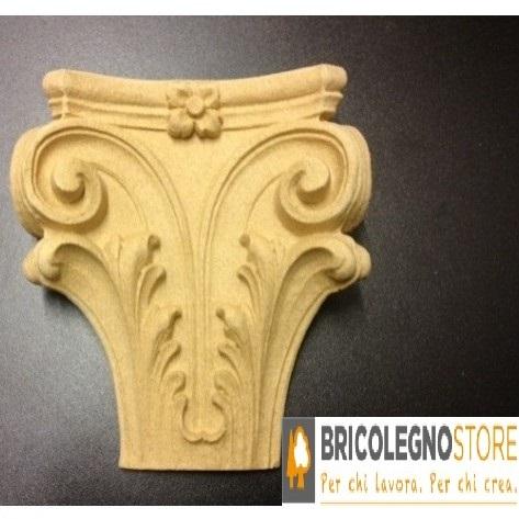 Fregi in legno pressato e fregi in pasta di legno fregio in pasta di legno mm 145 x 130 cod 9018 - Fregi per mobili ...