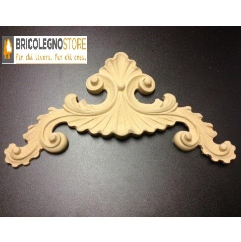 Fregi in legno pressato e fregi in pasta di legno fregio in pasta di legno mm 280 x 160 - Fregi per mobili ...