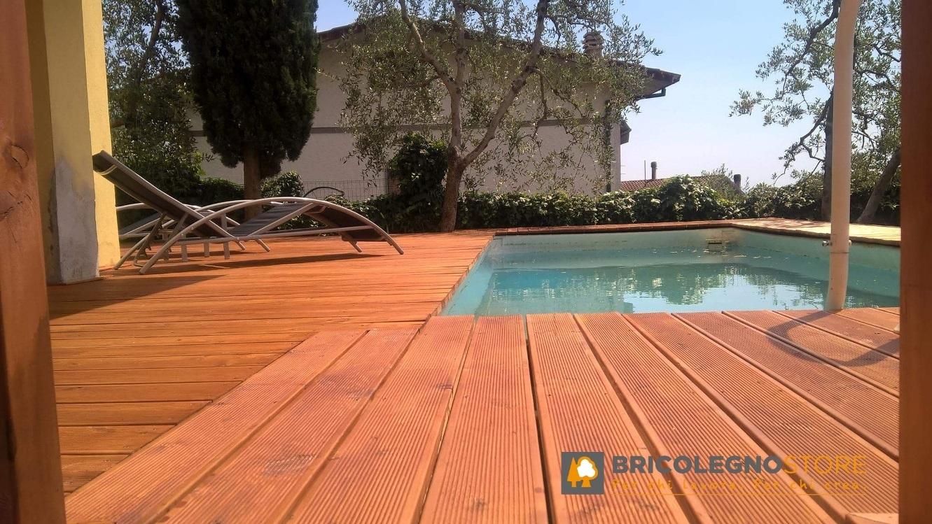Pedana Di Legno Per Giardino pavimento in legno per esterno decking in larice siberiano rustik - listone  da 20 x 115 x 2650 mm