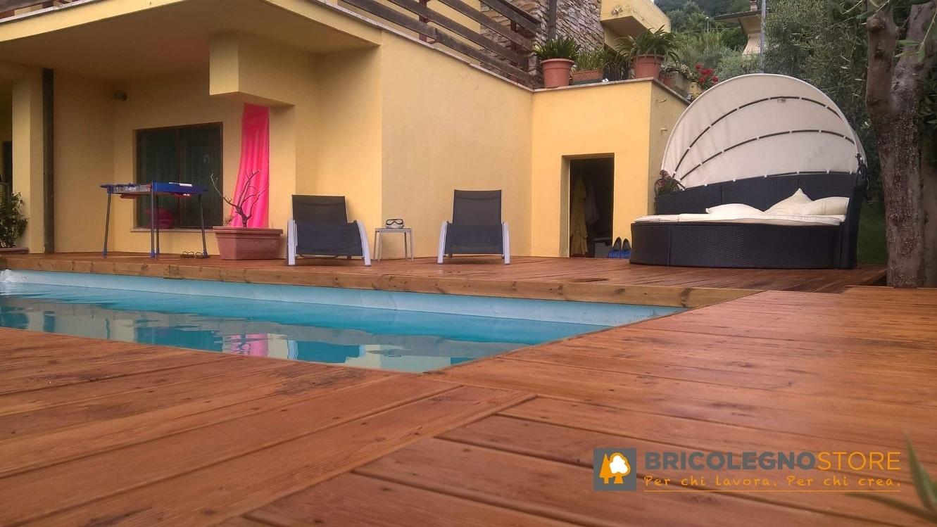 Decking pavimento in legno pavimento in legno per esterno decking in larice siberiano - Pavimento in legno da esterno ...