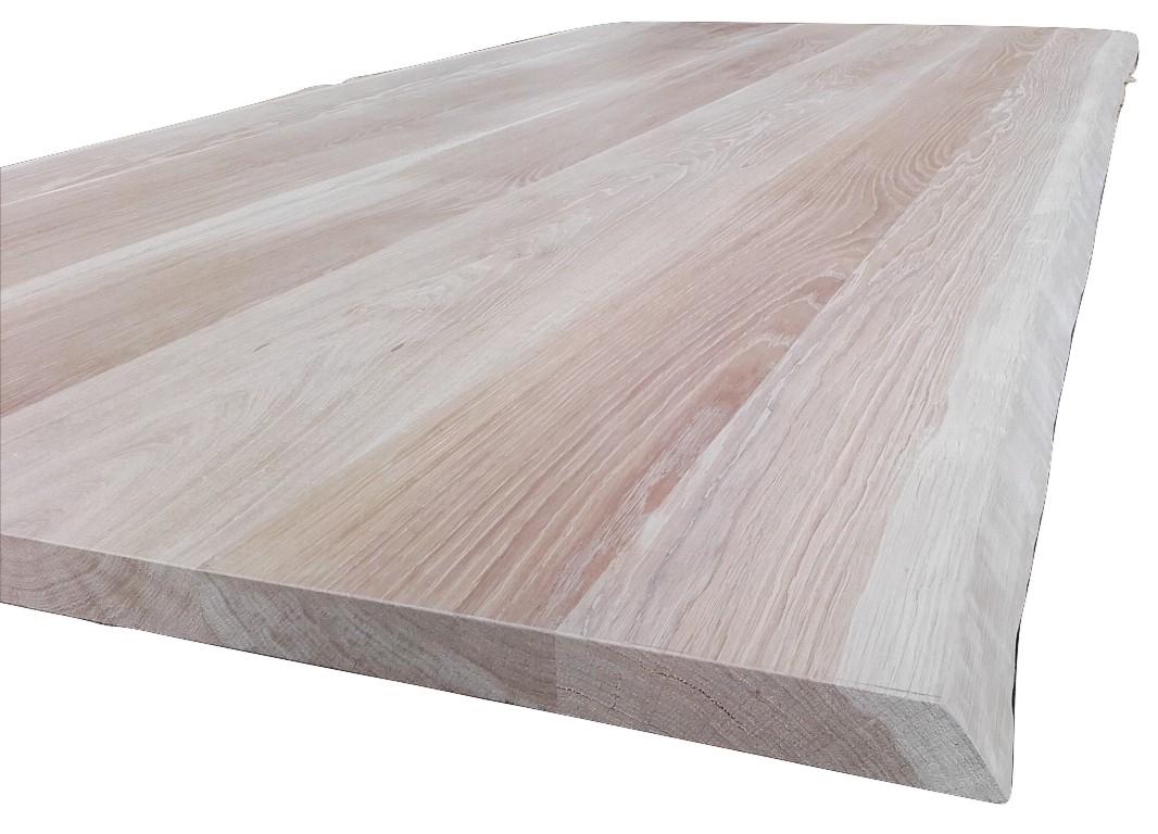 Piano tavolo in legno di rovere piano tavolo in legno rovere massello cm 4 2 x 85 90 x 240 - Tavolo legno grezzo ikea ...