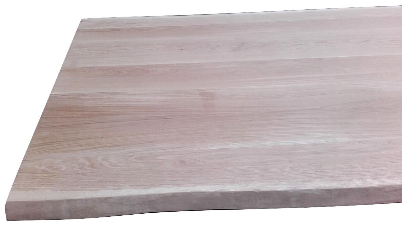 Piano tavolo in legno di rovere piano tavolo in legno rovere massello cm 4 2 x 85 90 x 240 - Gambe tavolo legno brico ...