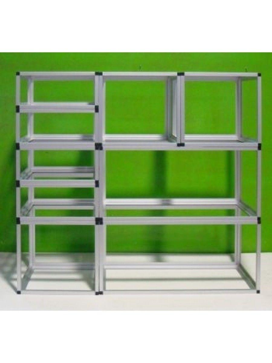 Scaffali Componibili Plastica.Profilo Alluminio E Raccordi Per Scaffali E Strutture Modulari Componibili