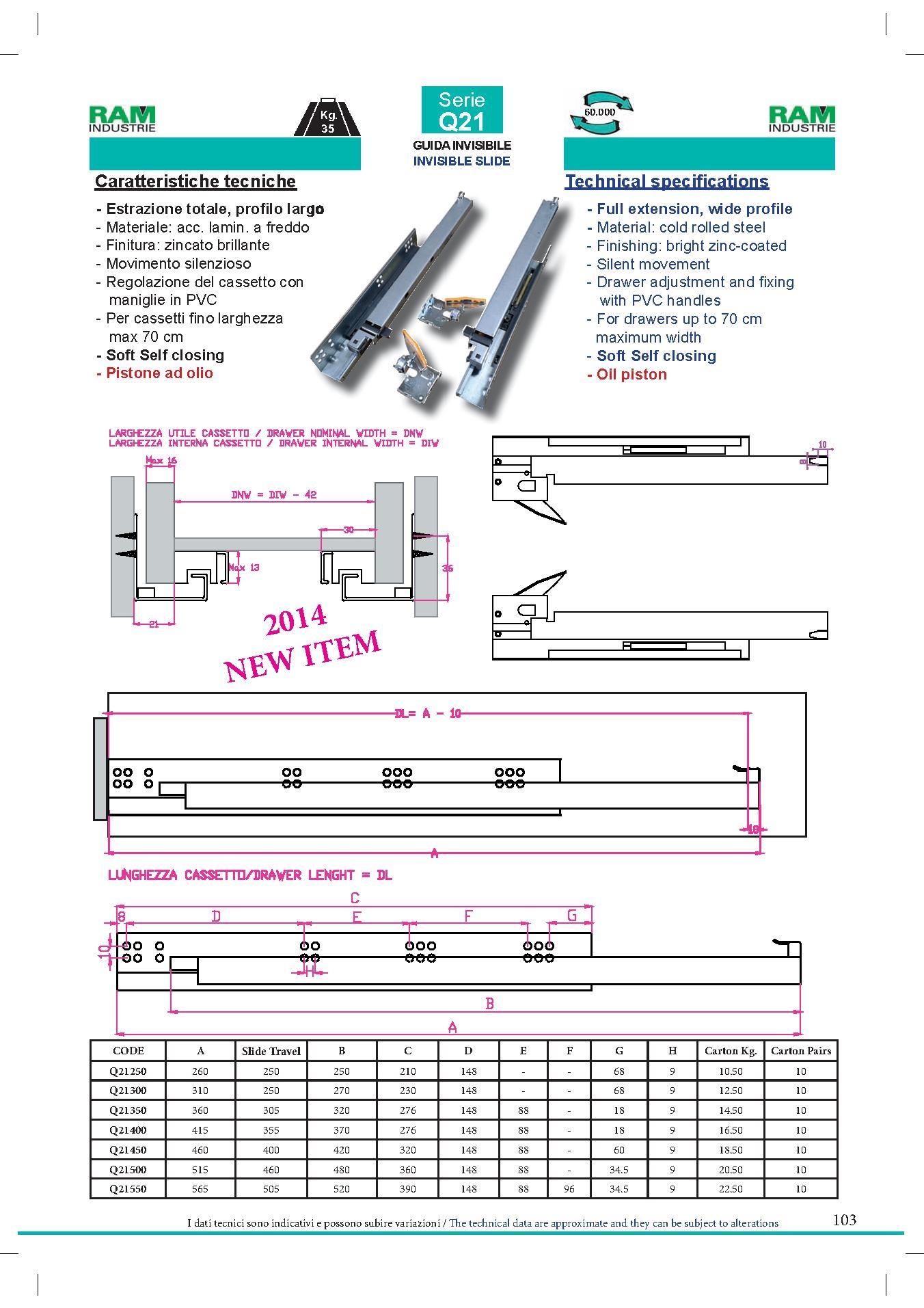 Guide cassetto multimarca guide cassetti scomparsa - Guide per cassetti ikea ...