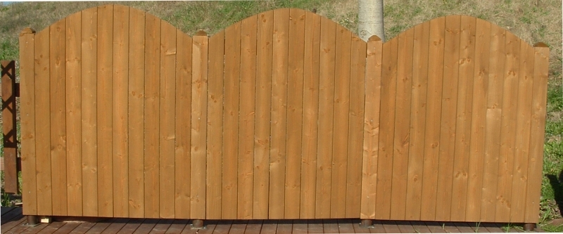 Recinzioni in legno recinzione in abete mod nice cm h150 for Recinzione legno giardino