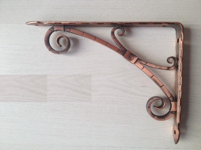 Staffe Mensole Brico.Reggimensola Da Cm 18 E 24 Rame Antico Vr