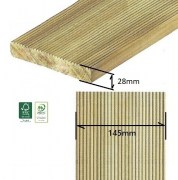 Decking Pavimento per Esterno in Pino - Listone da 1000 mm