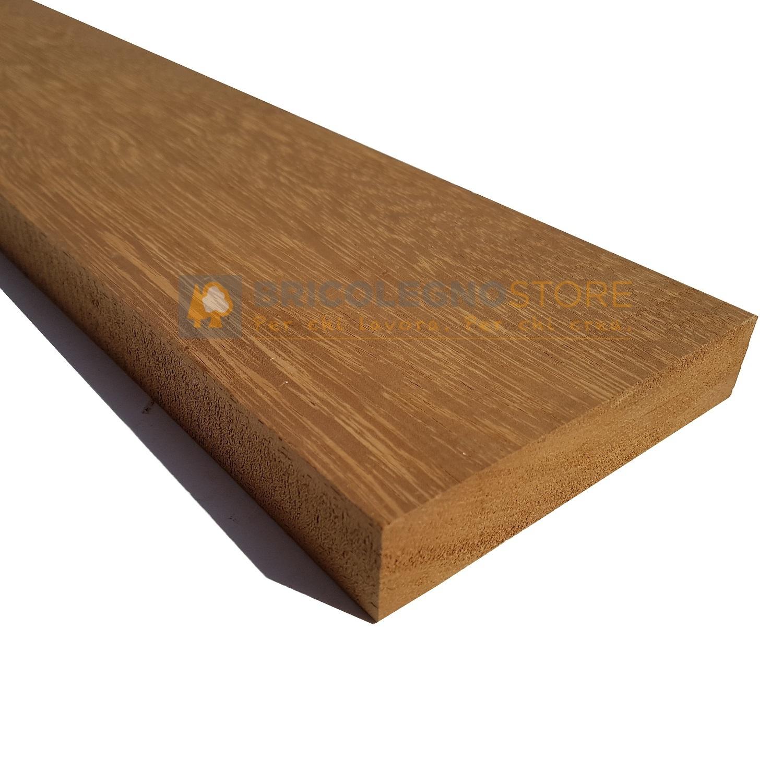 Tavole legno di iroko piallate tavola legno iroko piallata 2 1 x 16 x 150 cm - Tavole in legno massello ...