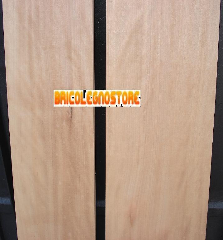Tavole legno di noce bahia abura piallate tavola legno noce bahia abura piallato 4 x 14 x 220 cm - Tavola legno lamellare faggio ...
