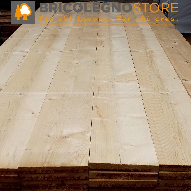 Tavole grezze in abete spessore 25 27 28 mm listello tavola abete grezzo 25 x 200 x 3000 mm - Tavole legno grezzo prezzo ...