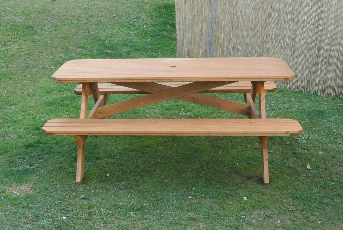 Tavoli in legno per giardino con panche tavolo da - Panca giardino ikea ...