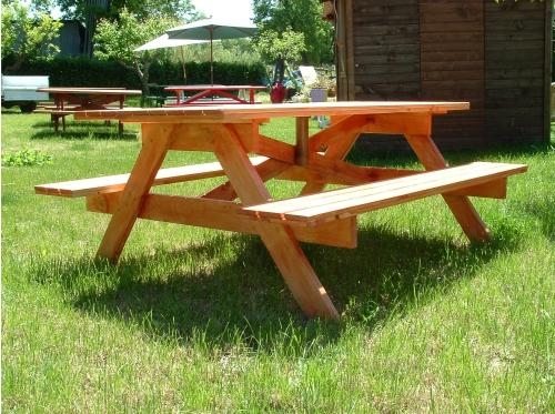 Tavoli in legno per giardino con panche tavolo da - Tavolo con sedie da giardino ...