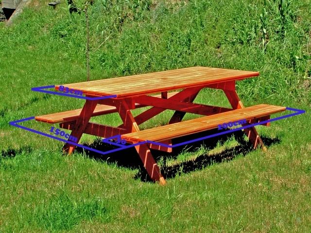 Tavoli in legno per giardino con panche tavolo da giardino con panche 8 2 posti holiday - Tavolo e panche da giardino ...