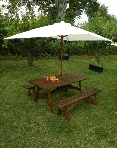 Tavoli in legno per giardino con panche tavolo da giardino con panche separate 8 2 posti - Tavolo e panche da giardino ...