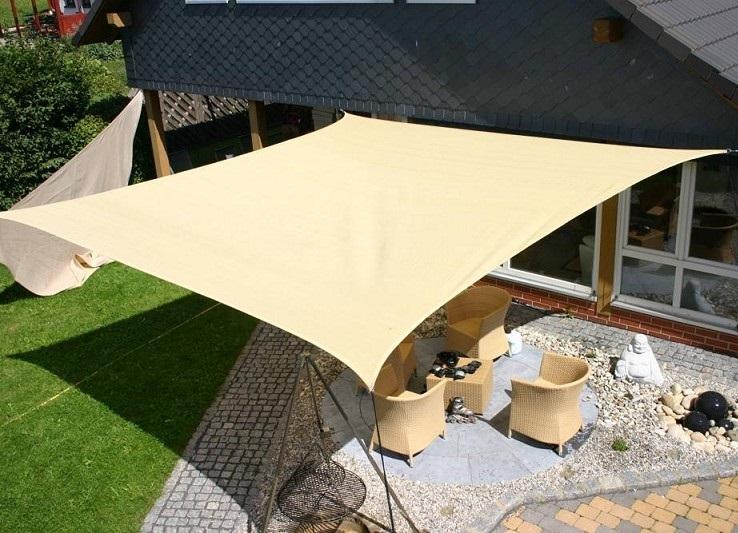 Tende arelle in canne di bamboo tenda a vela quadrata ombreggiante per arredo giardino - Tende a vela per esterno ...