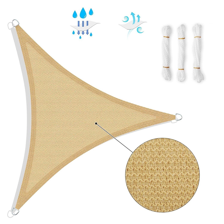 Vela Triangolare Da Giardino tenda a vela triangolare ombreggiante per arredo giardino esterno 5 x 5 x 5  metri