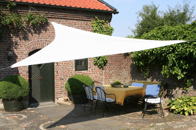 Tende arelle in canne di bamboo tenda a vela triangolare ombreggiante per arredo giardino - Tende a vela per esterno ...