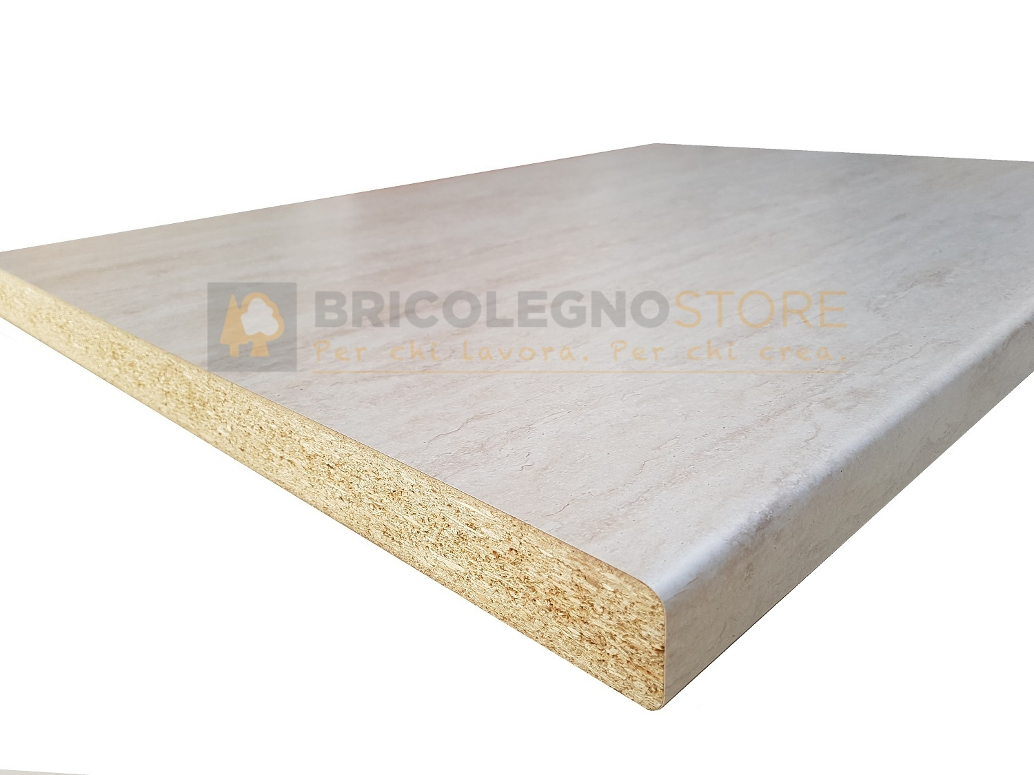 Top per cucina in Truciolare Stratificato HPL finitura TRAVERTINO mm 40 x  600 x 2100